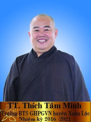 TT Thích Tâm Minh trưởng BTS GHPGVN huyện Xuân Lộc