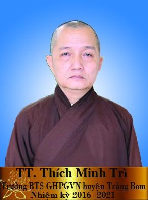 TT Thích Minh Trì trưởng BTS GHPGVN huyện Trảng Bom