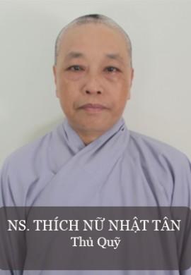Ni sư Thích Nữ Nhật Tân- Thủ quỹ BTS GHPG tỉnh Quảng Nam