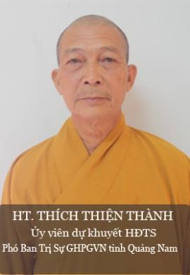 HT. Thích Thiện Thành - Ủy viên dự khuyết HĐTS, phó BTS PG tỉnh Quảng Nam