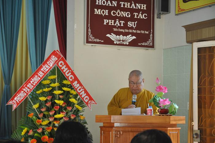 Khai giảng lớp Cao đẳng Phật học Tiền Giang khóa I