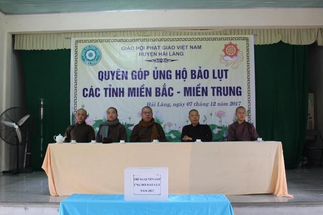 Phật giáo Hải Lăng tổ chức quyên góp ủng hộ bảo lụt năm 2017
