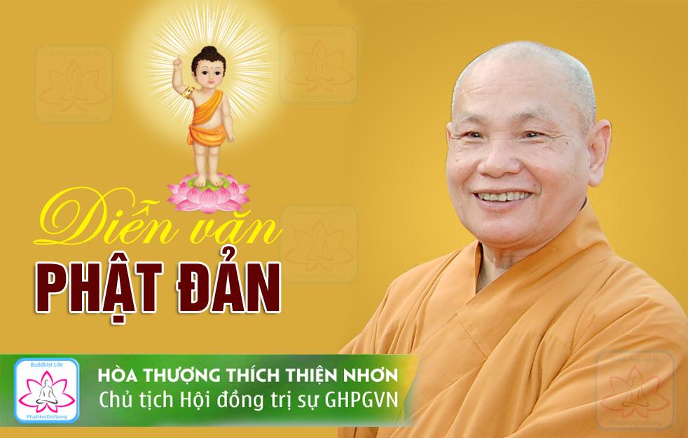 Diễn văn Phật đản PL: 2562 của HT Chủ tịch Hội đồng Trị sự GHPGVN