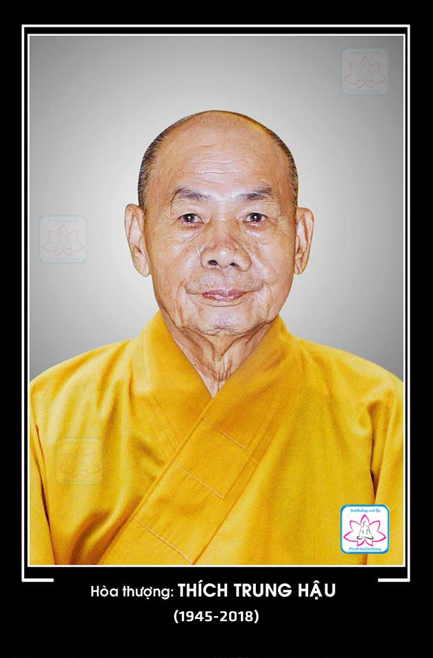 Huế: HT.Thích Trung Hậu viên tịch thọ 74 tuổi