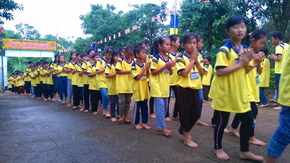 250 em tham dự khóa tu mùa hè chùa Thanh Nguyên - Bình Phước