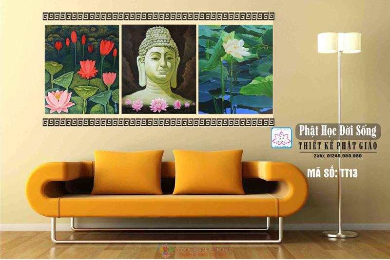 Tranh Phật poster treo tường phòng khách đẹp