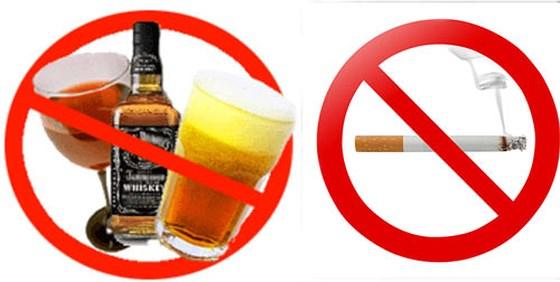 Kết quả hình ảnh cho cấm Hút thuốc, uống rượu, bia trong trường học; say rượu, bia khi đến lớp học.