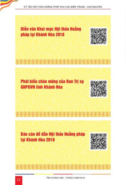 Kỷ yếu Hội thảo Hoằng pháp ứng dụng Mã QR Code lần đầu tiên tại Việt Nam