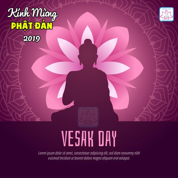 Bộ thiệp Happy Vesak day 2019 dành cho bạn thay ảnh avata facebook