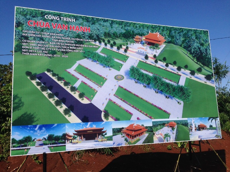 Phối cảnh tổng thể xây dựng chùa Vạn Hạnh trong tương lai.