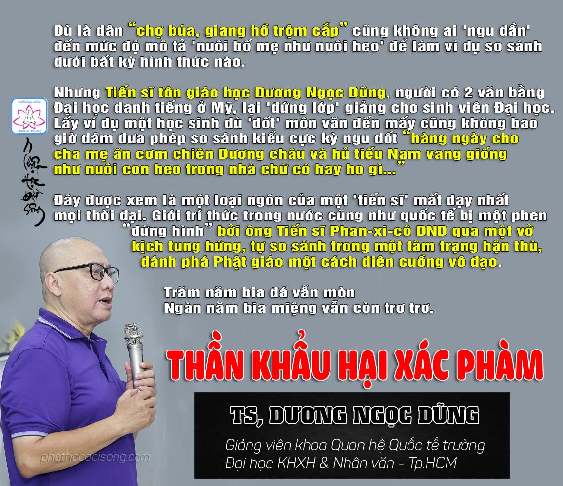 Dương Ngọc Dũng 'Thần khẩu hại xác phàm'