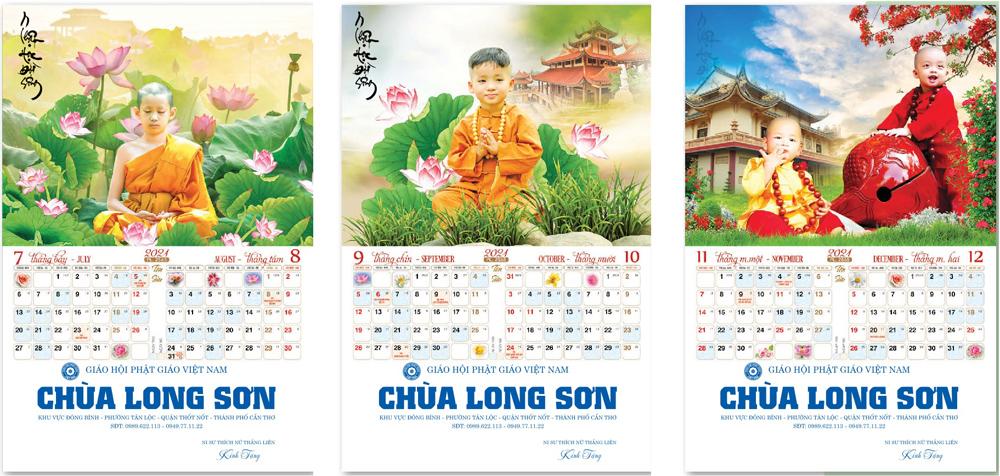 Lịch treo tường 2021: Chú tiểu Phật giáo Nam Tông | Phật học đời sống