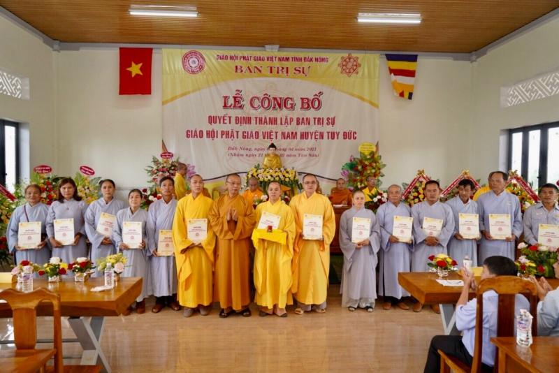Đắk Nông: ĐĐ.Thích Thánh Văn làm Trưởng ban Trị sự Phật giáo huyện Tuy Đức
