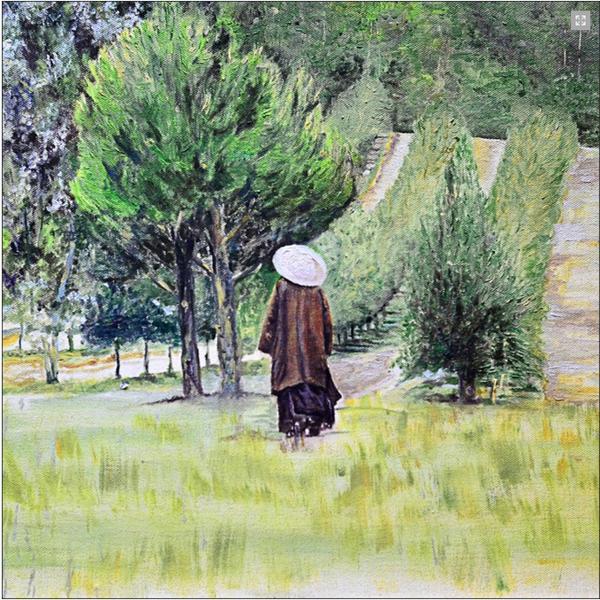 Sự bình dị trong những bức họa của Làng Mai