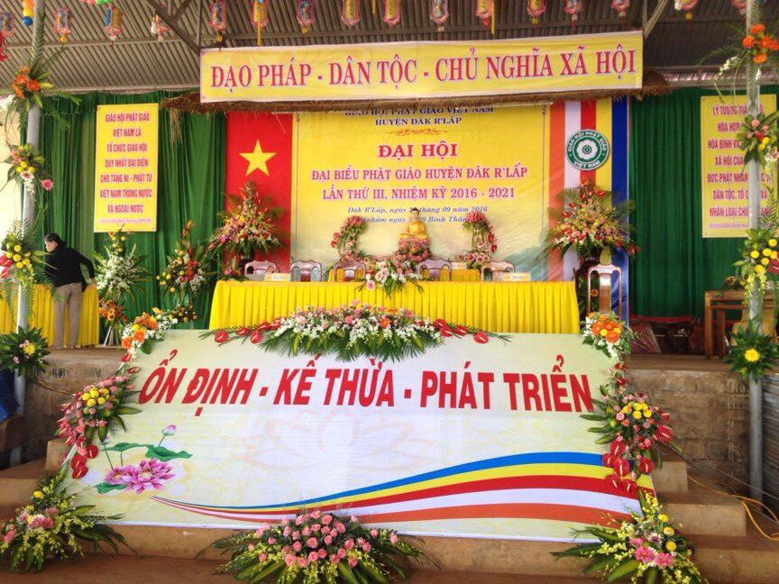 Họp trù bị Đại hội đại biểu huyện Đăk Rlấp lần III nhiệm kỳ 2016-2021