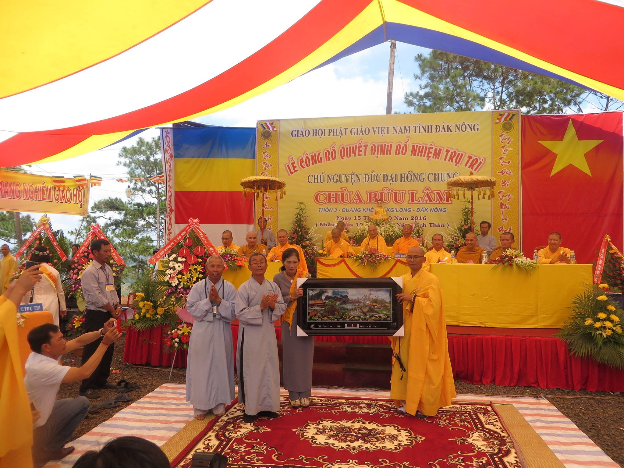 Đăk Nông: Lễ bổ nhiệm trụ trì, đúc chuông chùa Bửu Lâm
