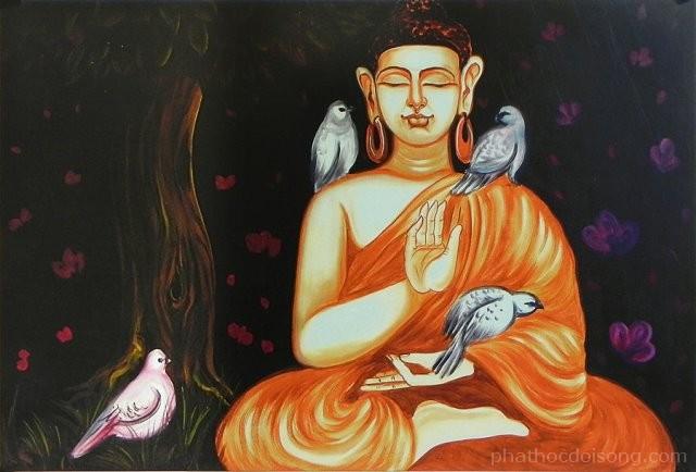 10 tranh sơn dầu vẽ Đức Phật Thích Ca Mâu Ni