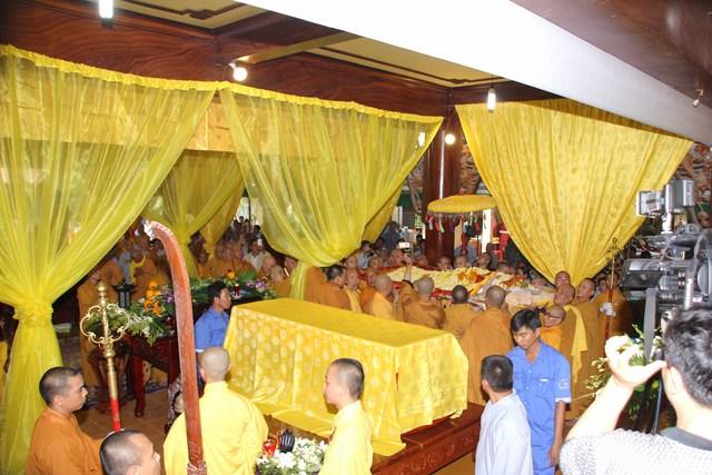 BRVT: Lễ nhập kim quan Hòa Thượng Thích Minh Hiển