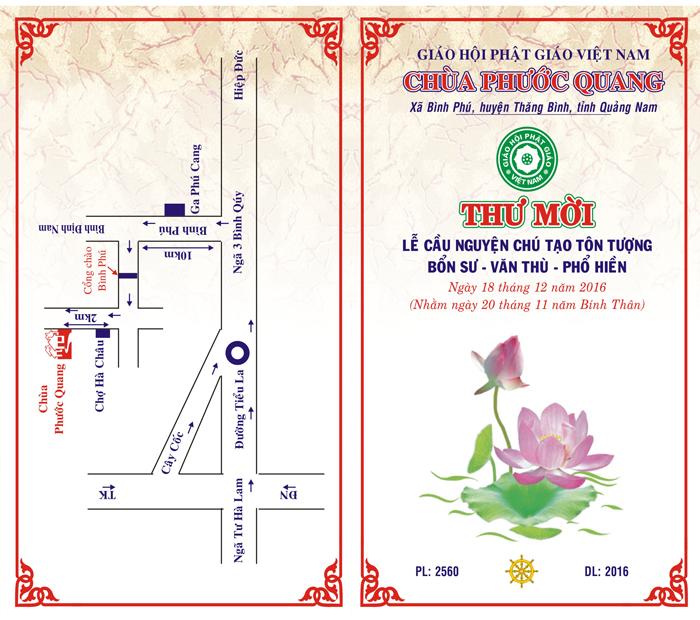 Quảng Nam: Sắp tới Chùa Phước Quang đúc tượng Phật bằng đồng