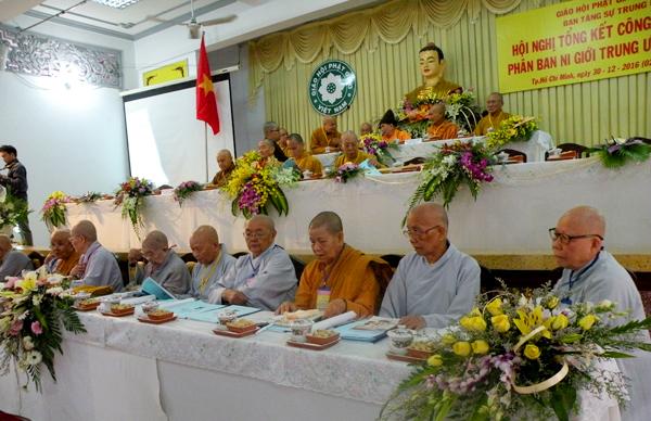 Phân ban Ni giới trung ương tổng kết công tác Phật sự 2016