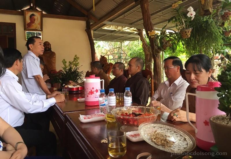 Lãnh đạo huyện thăm BTS PG huyện Đăk Rlấp đầu xuân 2017