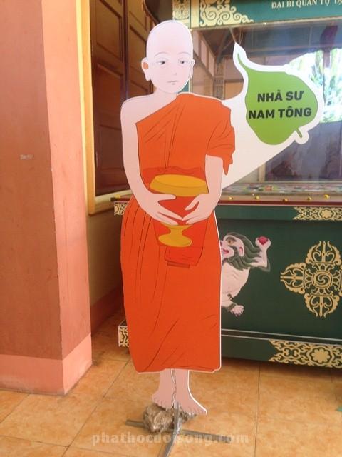 Triển lãm y phục tu sĩ Phật giáo Nam Tông