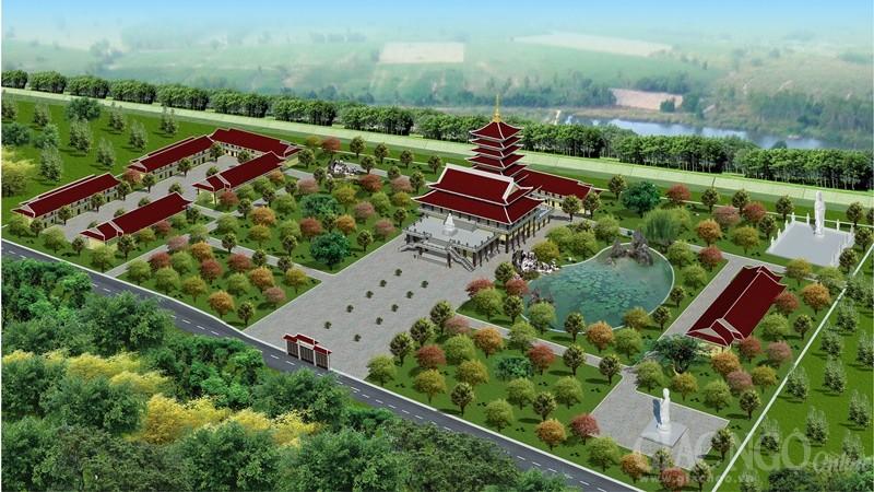 Phối cảnh toàn bộ công trình Bát Bửu Phật Đài