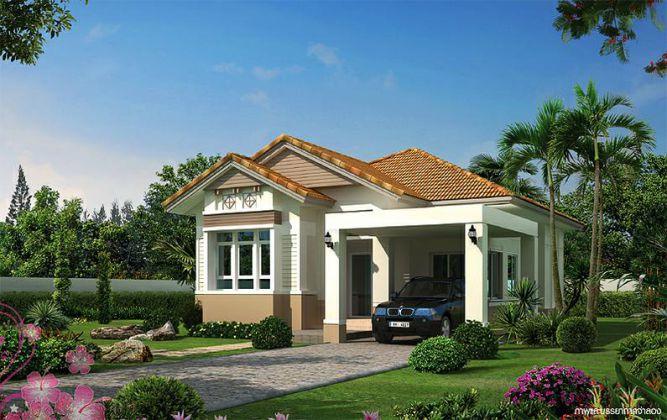 Mẫu nhà mái Thái thiết kế đẹp ở nông thôn (hình 6)