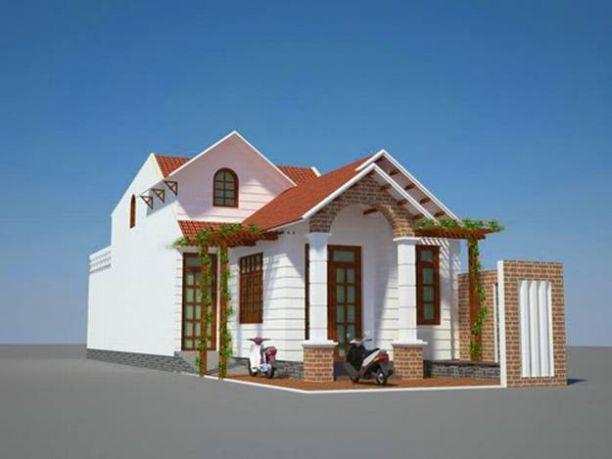 Mẫu nhà mái Thái thiết kế đẹp ở nông thôn (hình 7)