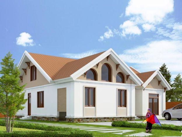 Mẫu nhà mái Thái thiết kế đẹp ở nông thôn (hình 10)