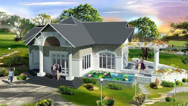 Mẫu nhà mái Thái thiết kế đẹp ở nông thôn (hình 11)