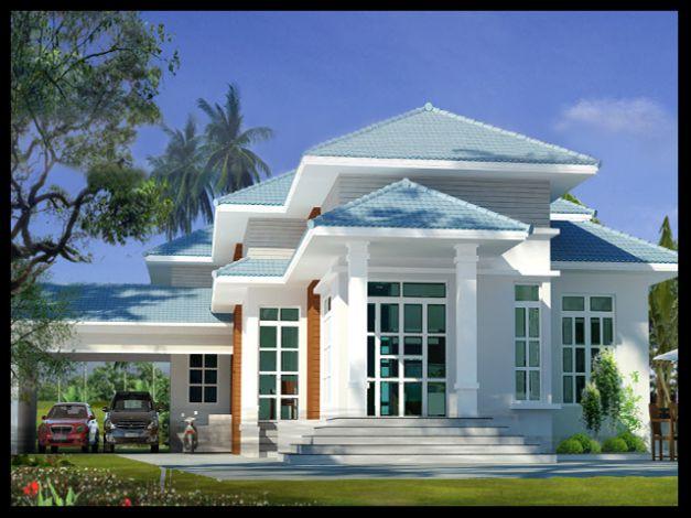 Mẫu nhà mái Thái thiết kế đẹp ở nông thôn (hình 17)