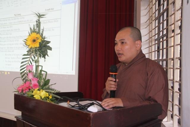 ĐĐ.TS Thích Phước Điền giới thiệu mục đích và thành phần tham dự