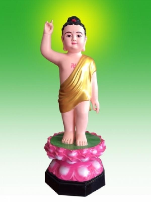 Đức Phật đản sanh mẫu tượng chỉ tay phải lên trời
