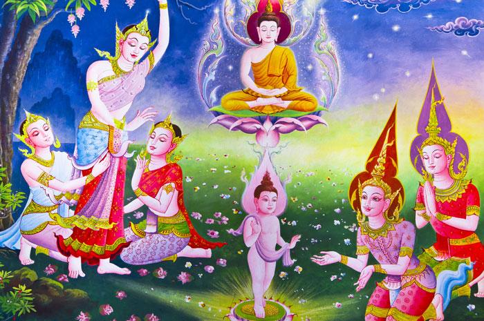 Đức Phật sơ sanh tay phải hay tay trái chỉ lên là đúng?
