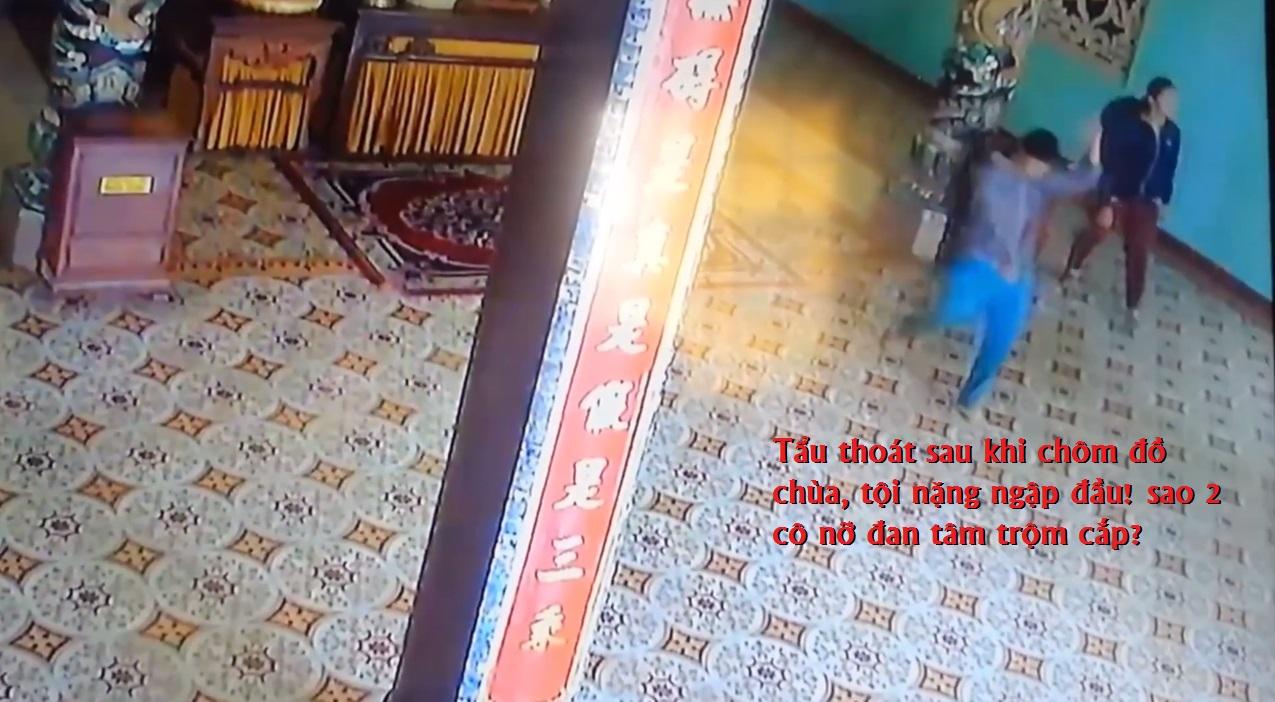 2 nữ quái trộm lư đồng chùa Phước Viên