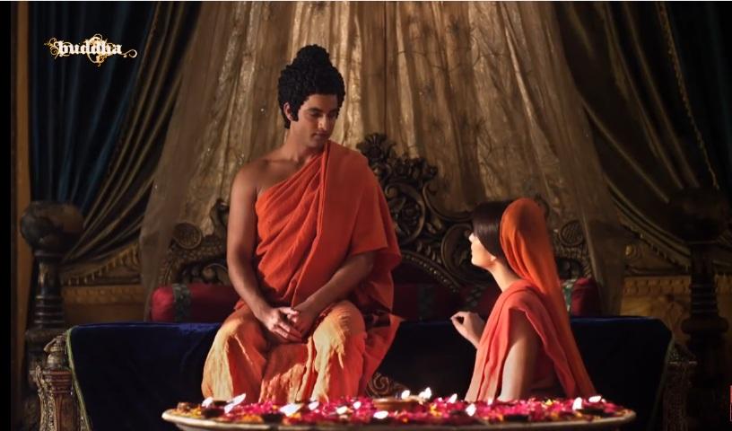 Đức Phật thuyết pháp cho Gia Du Đà La trong hoàng cung Tỳ La Vệ