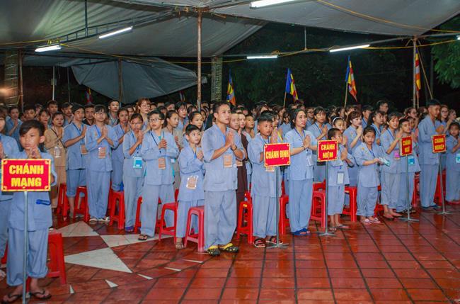 Thái nguyên: chùa Huống Thượng khai mạc khóa tu 'Tâm khai trí sang lần thứ 2'